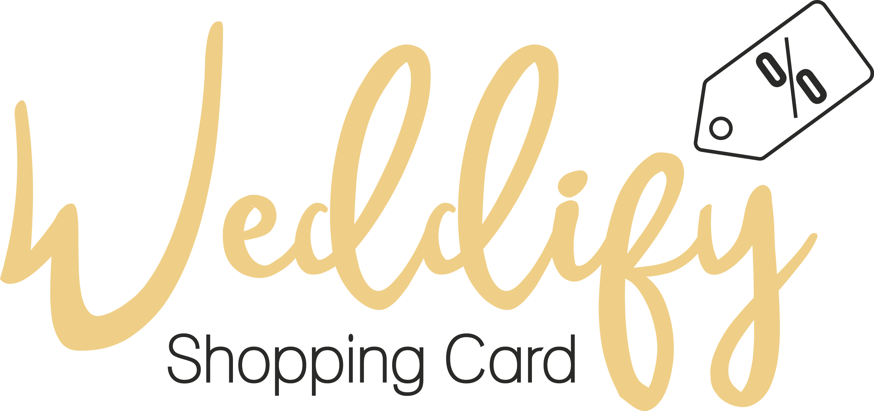 Weddify Logo Shopping Card gold